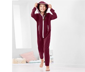 Girls Lounge Jumpsuit, Bordeaux