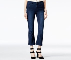 Rachel Roy Cropped Ultramarine Wash Flare Jeans, Blue