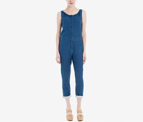 Max Studio London Cotton Denim Jumpsuit, Indigo