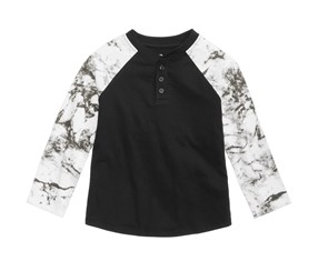 Epic Threads Marble Henley, Deep Black
