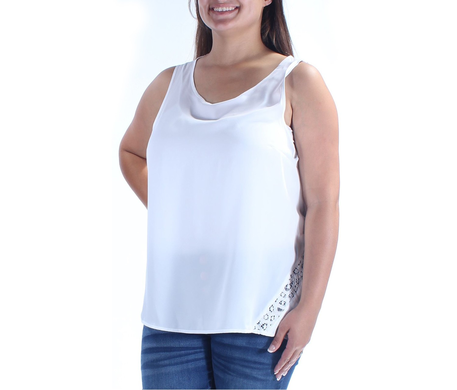 a0d3b51ad43e5 Shop Kensie Kensie Women's Scoop Neck Sleeveless Top, White for ...