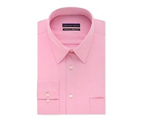 Geoffrey Beene Mens Classic-Fit Wrinkle Free Shirt, Light Pink