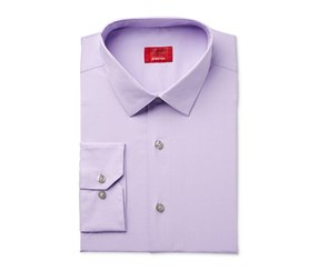 Alfani Spectrum Mens Slim-Fit Stretch Dress Shirt, Lilac