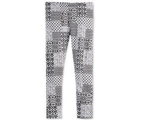 Epic Threads Mix and Match Geo-Print Leggings, Black/White