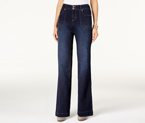 Style & Co. Flare-Leg Jeans, Jewel Wash