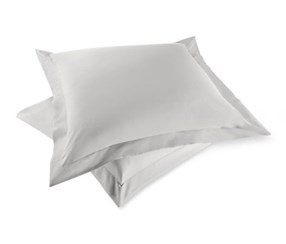 Satin Pillowcase Set of 2 80 x 80 cm, Light Grey