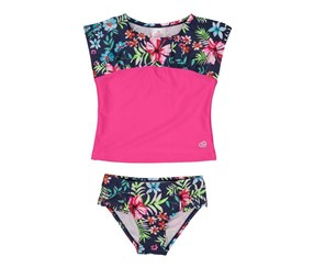Skechers Baby Girls Rashguard Swim Set, Pink Combo