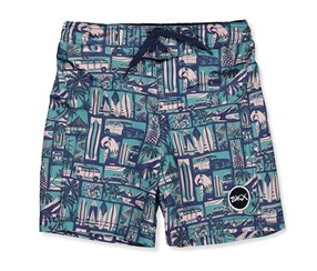 Skechers Kid's Boys' Board Shorts, Navy/Green