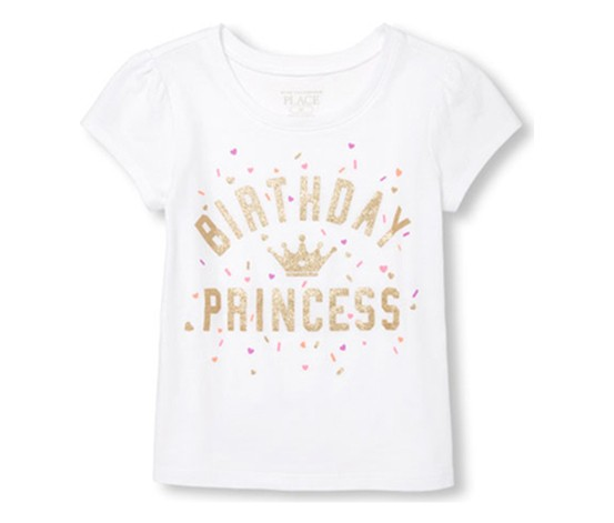 Shop The Childrens Place Birthday Princess Top