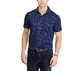 Polo Ralph Lauren Men's Classic-Fit Soft-Touch Paisley Polo, French Navy