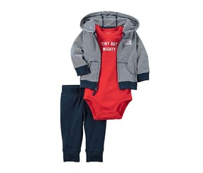 Carter's Baby's 3-pc Striped Layette Set, Navy
