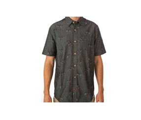 Hurley Men's Zig Zane Shirts, Black