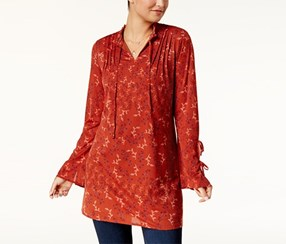 Style & Co Printed Peasant Tunic, Fine Day