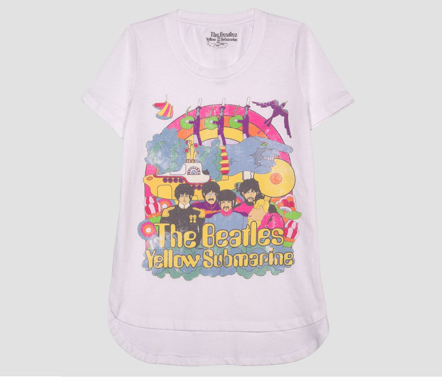 84d513794 Shop The Beatles Beatles Girl's Short Sleeve T-Shirt, White for Kids ...