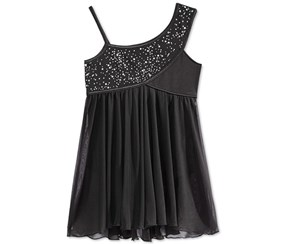 Future Star by Capezio Girl's Hi-Low Leotard, Black