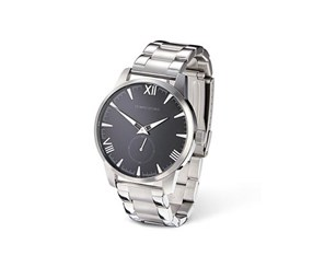 Men's Stainless Steel Quartz Watch, Silver Colored