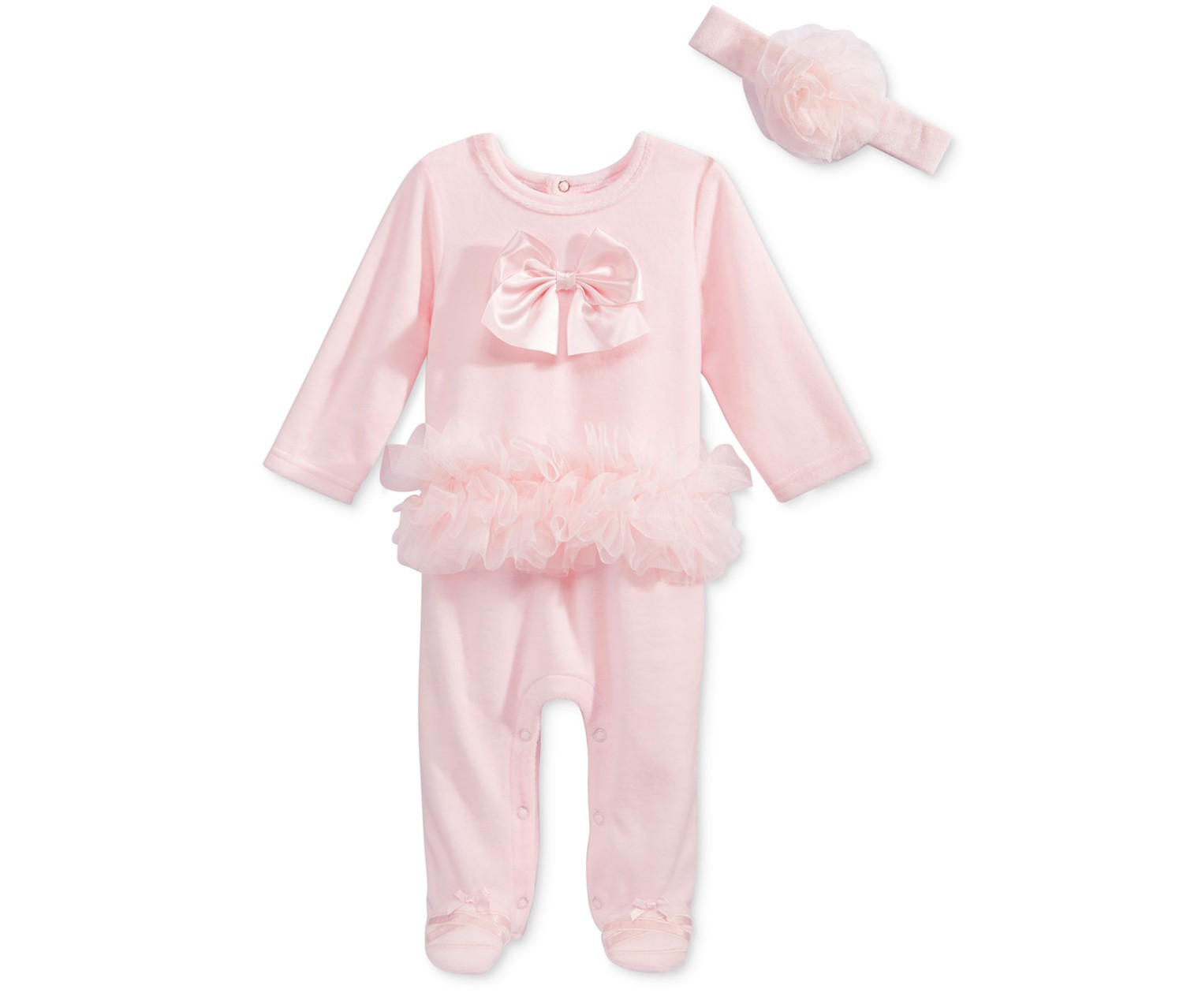 968169656 Shop First Impression First Impressions Baby Girls  2-Pc. Velour ...