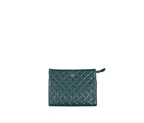 Christian Lacroix Women's  Quilted Clutch, Teal