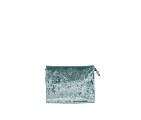 Christian Lacroix Crushed Velvet Clutch, Light Blue