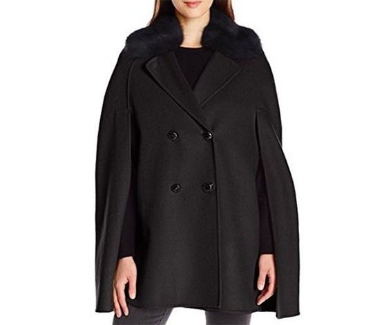 d934abd4ee91 ... Jackets Nanette Lepore Wool Faux Fur Double Breasted Cape