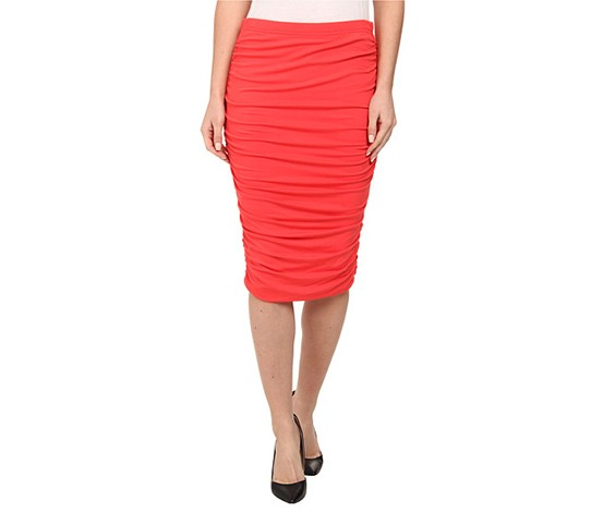 994e340c3e57ad Shop Vince Camuto Vince Camuto Women's Ruched Midi Tube Skirt, Coral ...