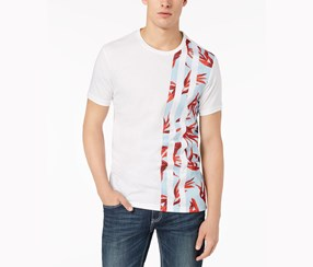 International Concepts Mens Graphic-Print T-Shirt, White Pure