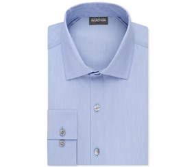 Kenneth Cole Reaction Men's Tall Slim-Fit Dress Shirt, Blue jay