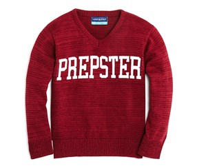 Andy & Evan Boys' Tonal Striped Prepster Sweater, Red