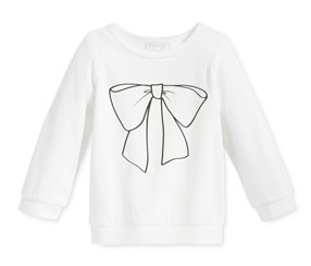 First Impressions Baby Girls' Long-Sleeve T-Shirt, White