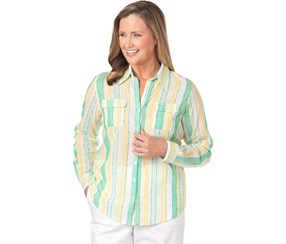 Alfred Dunner Women's Shirt, Green/Yellow