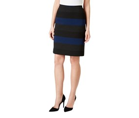 Tahari Women's Petite Straight Pencil Skirt, Navy
