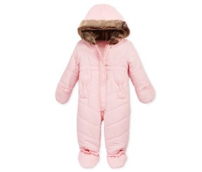 First Impressions Girls' Quilted Snowsuit, Pink