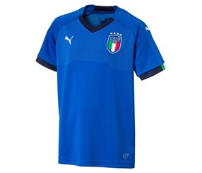 Puma Boy's Italy Home Shirt 2017/2018, Blue