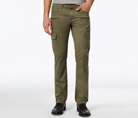 Inc Men's Esteban Slim-Straight Cargo Pants, Olive