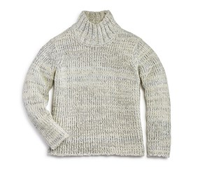 Aqua Girl's Chunky Mock Neck Sweater, Ivory