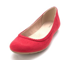 Style & Co. Women;s ciaraa Almond Toe Ballet Flats, Deep Red