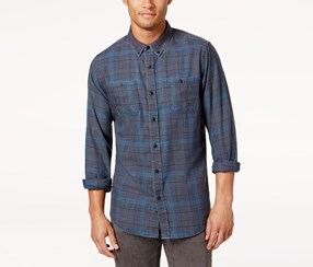 Ezekiel Men's Blayke Woven Shirt, Dark Gray
