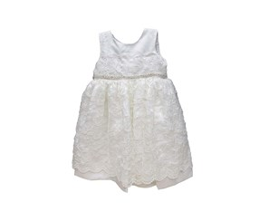 Blueberi Boulevard Baby Girls' Lace Special Occasion Dress, White
