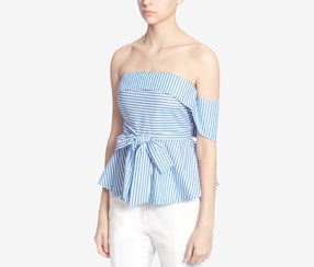 Catherine Malandrino Reese Strapless Blouse, Blue