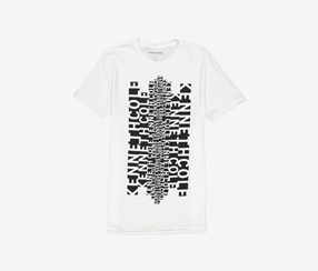 Kenneth Cole Men's Slank Graphic Tee, White