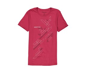 Kenneth Cole Men's Polygon Graphic Tee, Cardinal