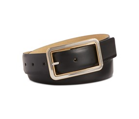 Style & Co. Two-Tone Buckle Pant Belt, Black