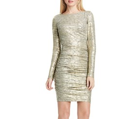 Vince Camuto Women's Ruched Dress, Gold