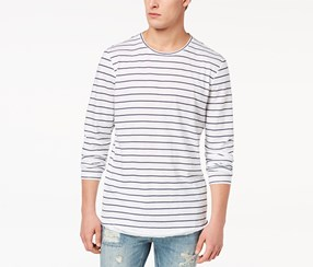American Rag Men's Striped Long-Sleeve T-Shirt, White