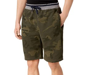 American Rag Mens Camo Casual Walking Shorts, Olive