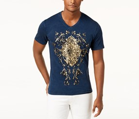 I.n.c. Men's Graphic-Print T-Shirt, Dark Blue