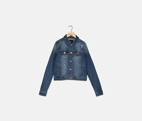Destructed Denim Jacket, Clover