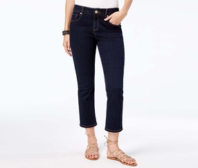 Inc International Concepts Cropped Straight-Leg Jeans, Tikglo Wash