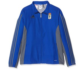 adidas Boy's Real Oviedo FC Jacket, Blue