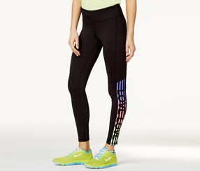 Material Girl Active Juniors' Love Graphic Yoga Leggings, Black